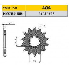 звездочка ведущая 40416 стальная, Sunstar