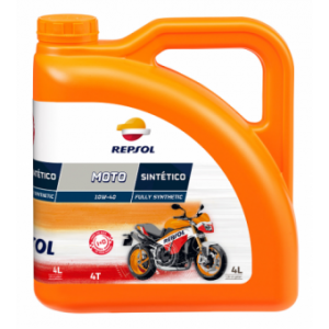 Масло Repsol MOTO SINTETICO 4T 10W40, 4 л канистра, Испания,
